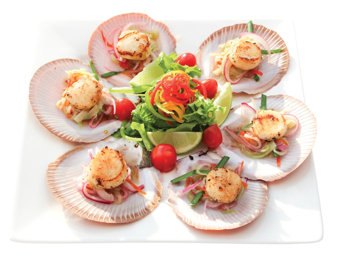 how to cook scallops in half shell